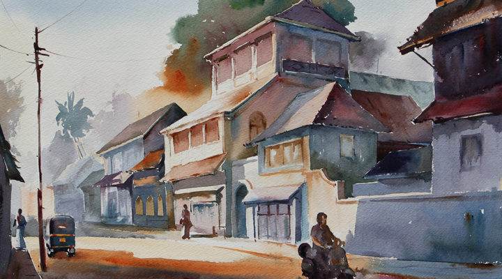 Water colour painting