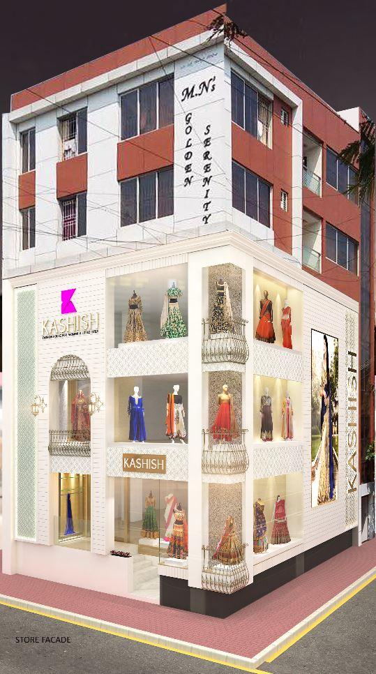 Architecture - Kashish Store Facade - Banglore